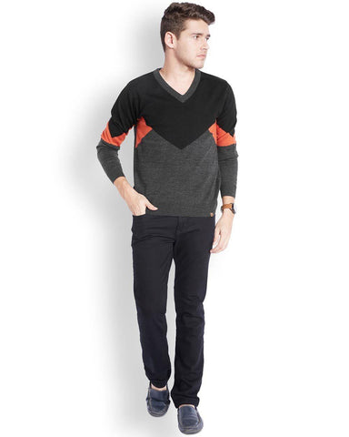 Parx Dark Orange Regular Fit Winterwear