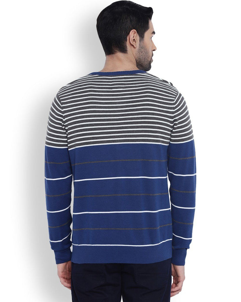 Parx Blue Striped Sweater