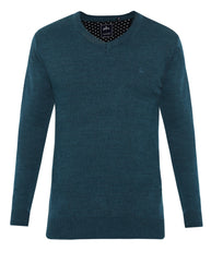 Parx Dark Green Regular Fit Sweater