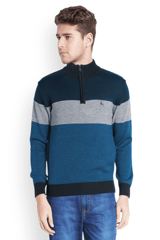 Parx  Blue Regular Fit Sweater