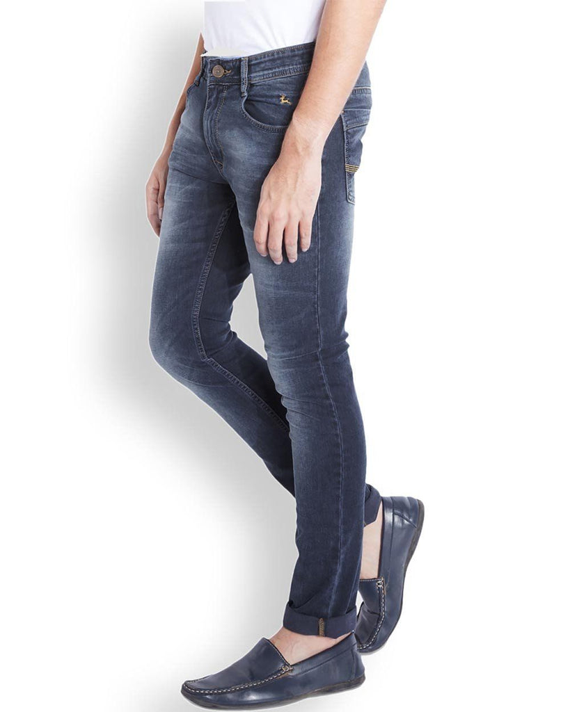 Parx  Blue Slim Tapered Fit Jeans