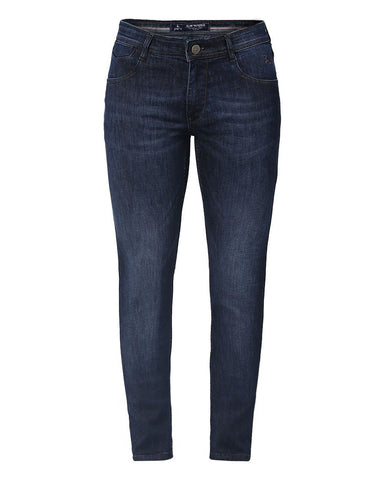 Parx Dark Blue Slim Tapered Fit Jeans