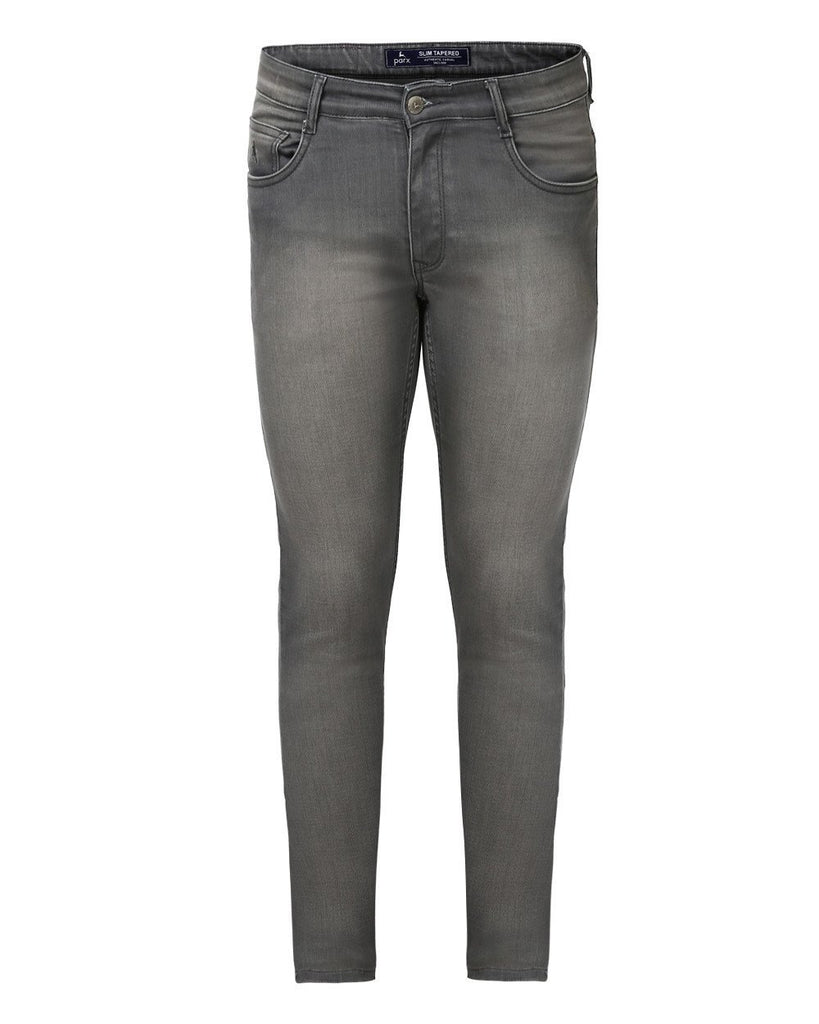 Parx Grey Slim Tapered Fit Jeans
