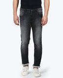 Parx Black Slim Tapered Fit Jeans