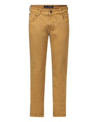 Parx Khaki Slim Tapered Fit Jeans