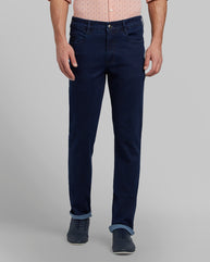 Parx Dark Blue Regular Fit Jeans