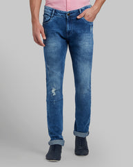 Parx Medium Blue Skinny Fit Jeans