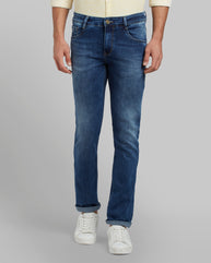 Parx Dark Blue Slim Fit Jeans
