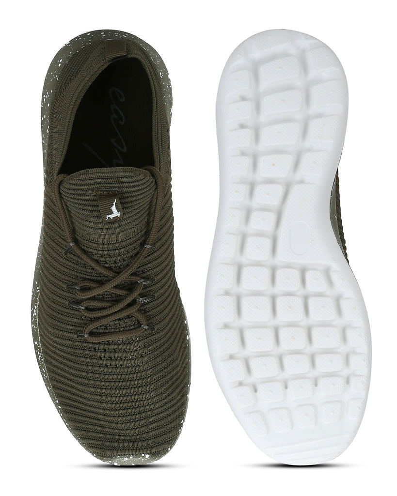Parx Medium Green Casual Shoes