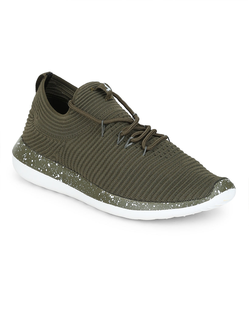 Parx Medium Green Regular Fit Shoes