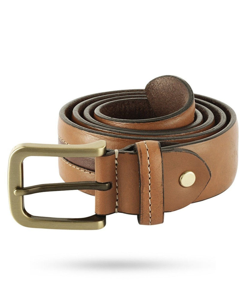 Parx Beige Leather Belt