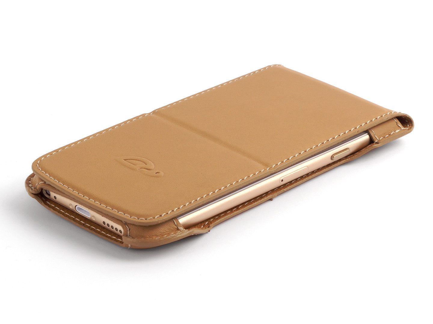 sneakers for cheap 941ce e79b3 iPHONE 6 / 6 PLUS LEATHER FLIP CASE - CAMEL