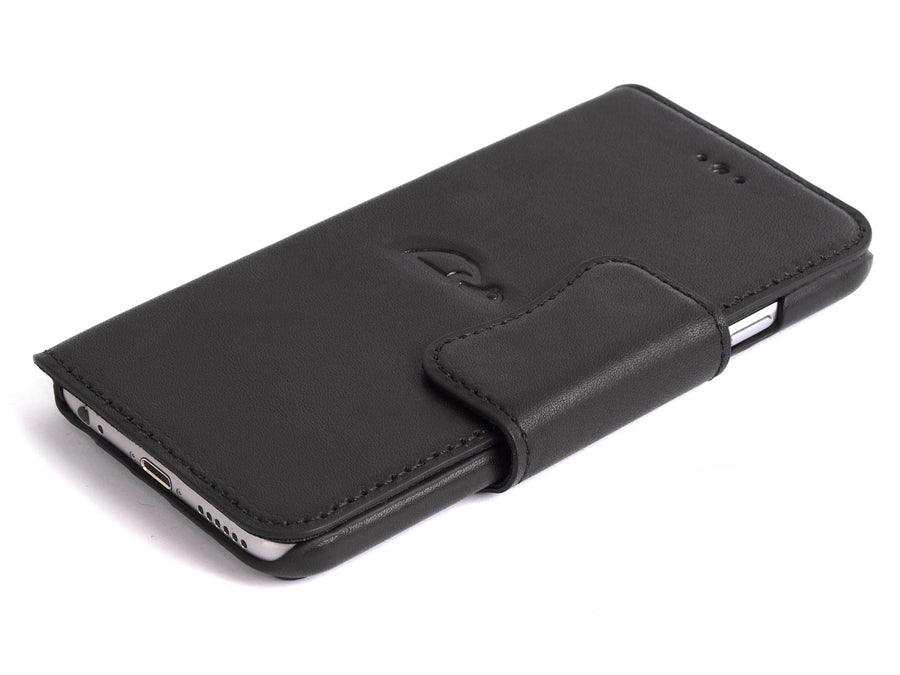 Black iPhone 6 leather case - Carapaz