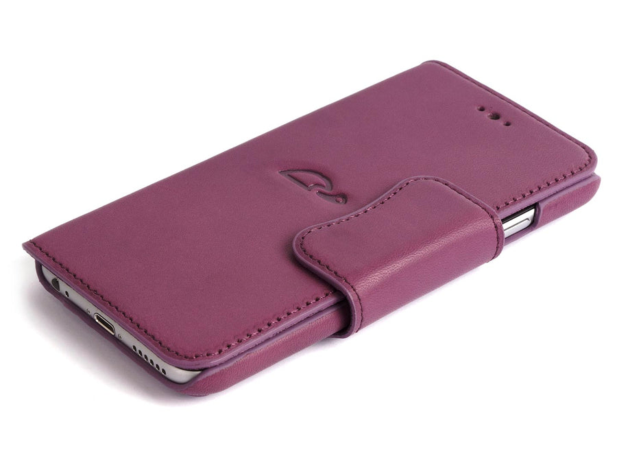 iPhone 6 case purple leather - wallet - Carapaz