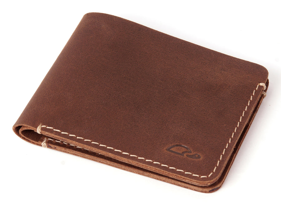 SLIM LEATHER WALLET - MINIMALIST DESIGN - BROWN - Carapaz