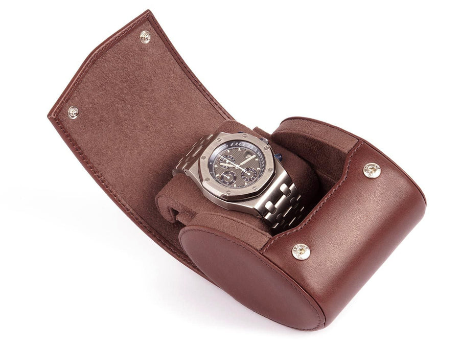 Travel Watch Case - Etui de montre voyage - Reise-Uhrenbox - Single Watch Case - Travel Watch Roll for 1 Watch - Storage Watch Box - Carapaz