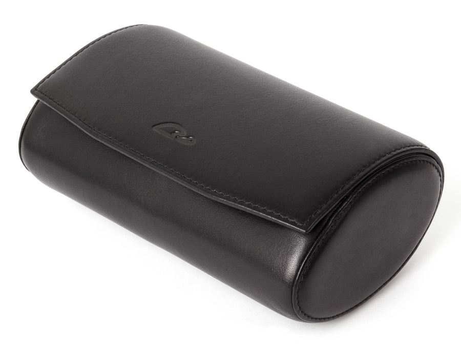 Watch Box - Travel Watch Roll - Storage - Black natural Leather - Carapaz