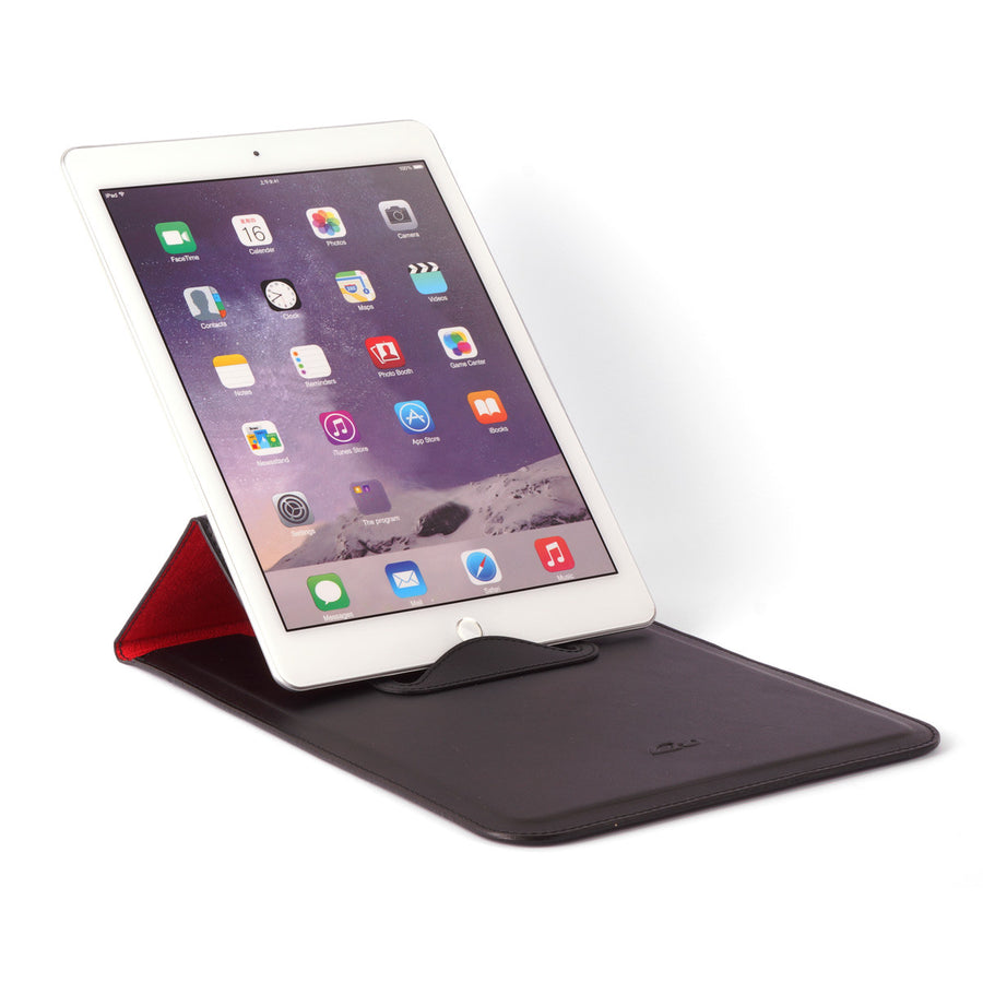 Leather Case with Stand Function for iPad Air / Pro 9.7 - SIENA - Smooth Matt Black Leather-Carapaz