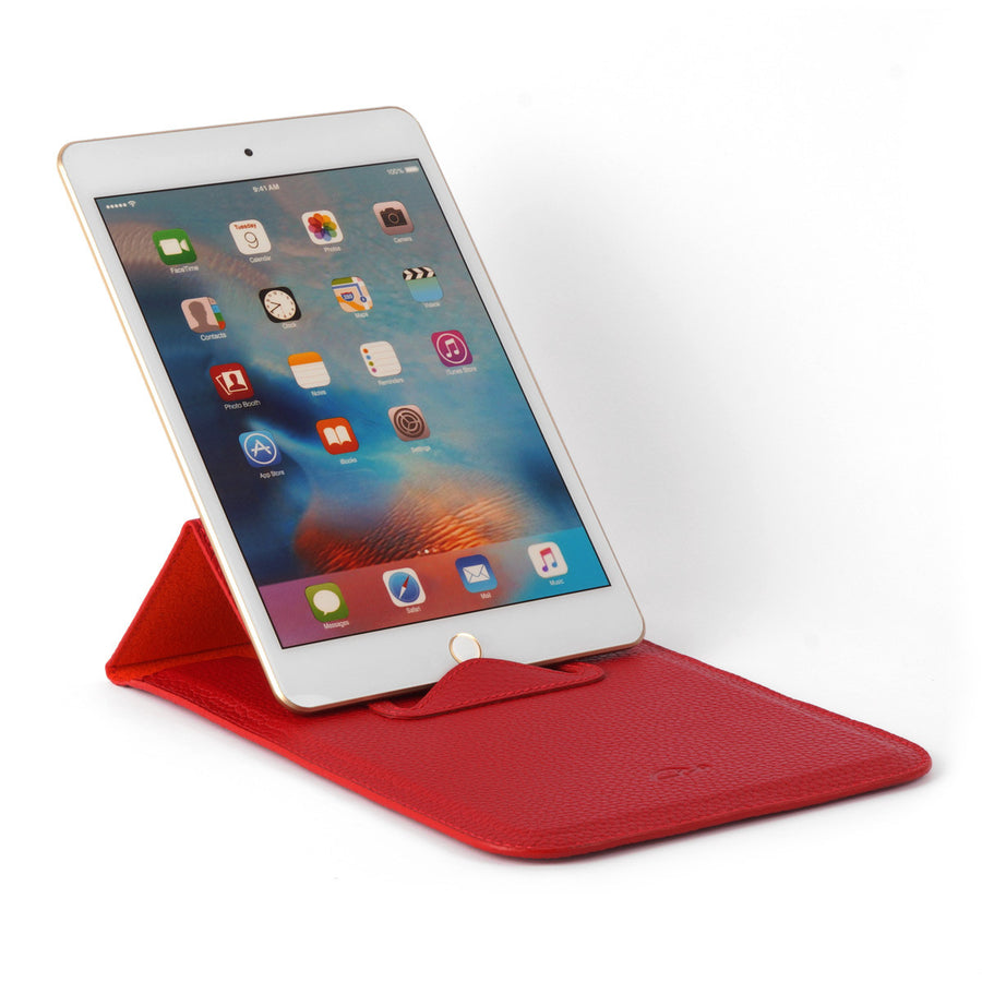 Leather Case with Stand Function for iPad Mini - SIENA - Grained Leather-Carapaz