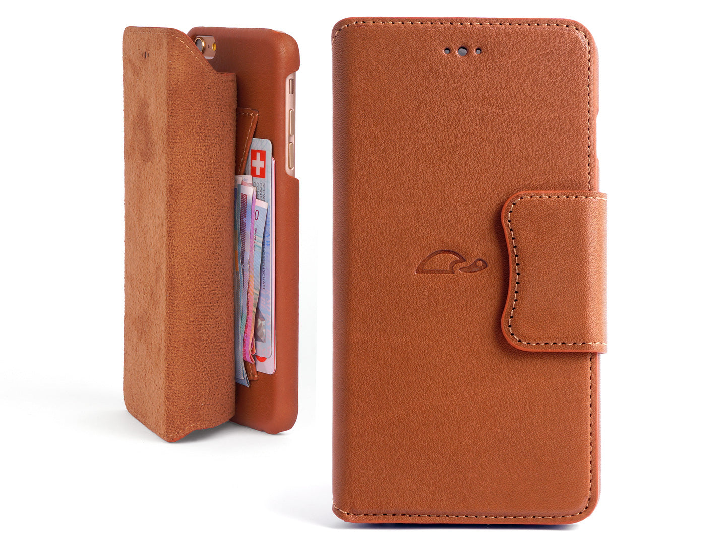 b9263914d2c09 iPhone 6 Leather Wallet Case - With Cards Pocket and Stand function ...