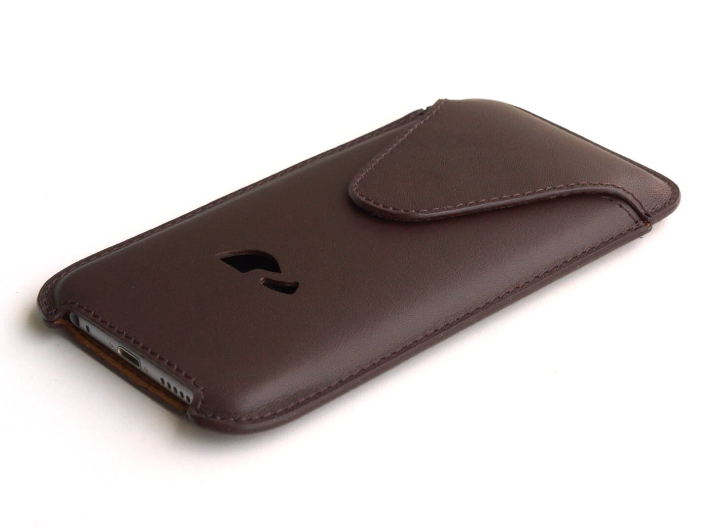 best sneakers 421dc 206d6 LEATHER POUCH iPHONE 6 / 6 PLUS / 7 / 7 PLUS / 8 / 8 PLUS / XS Max - BROWN