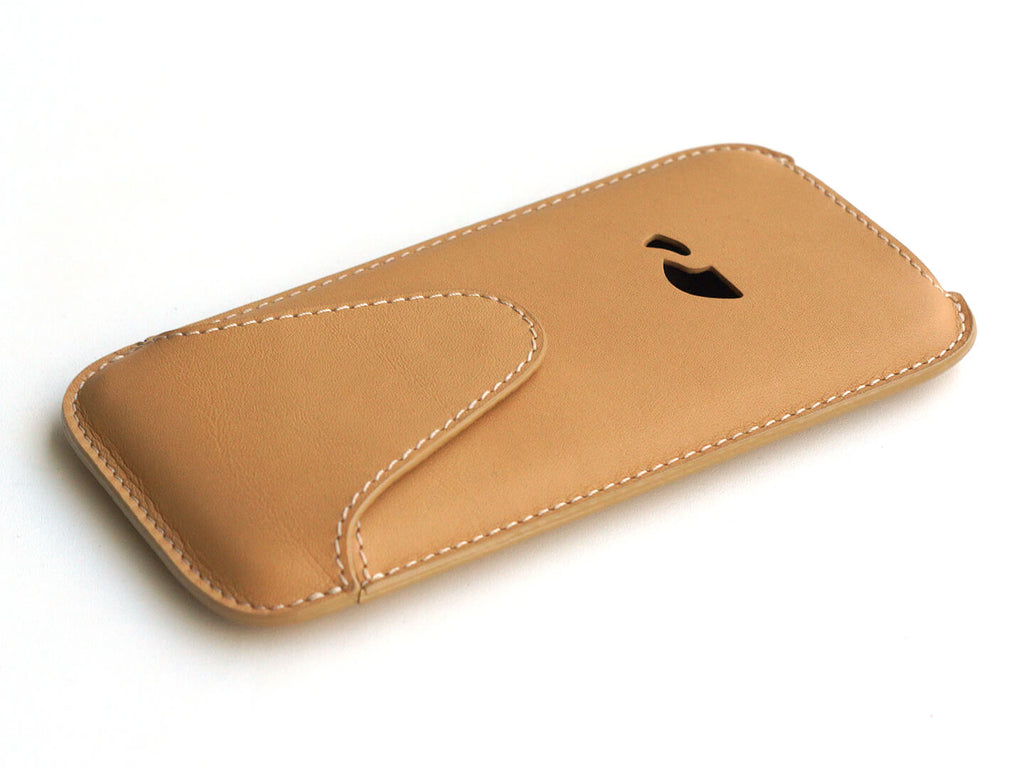 online store 97726 41768 LEATHER POUCH iPHONE 6 / 6 PLUS / 7 / 7 PLUS / 8 / 8 PLUS / XS Max - CAMEL