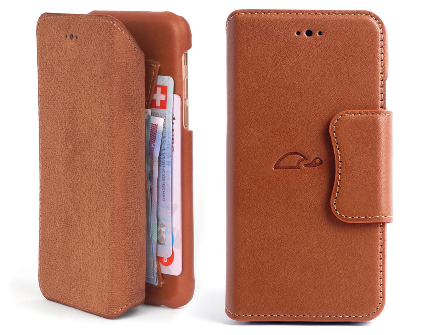 iPhone 6 leather wallet case - cards - stand - Carapaz