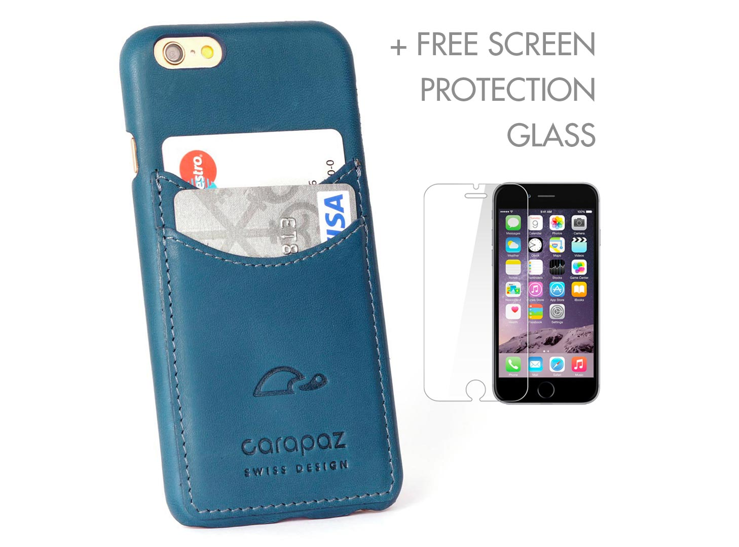 the latest 0b638 06033 iPHONE 6 / 6 PLUS SLIM CASE + SCREEN PROTECTION - BLUE