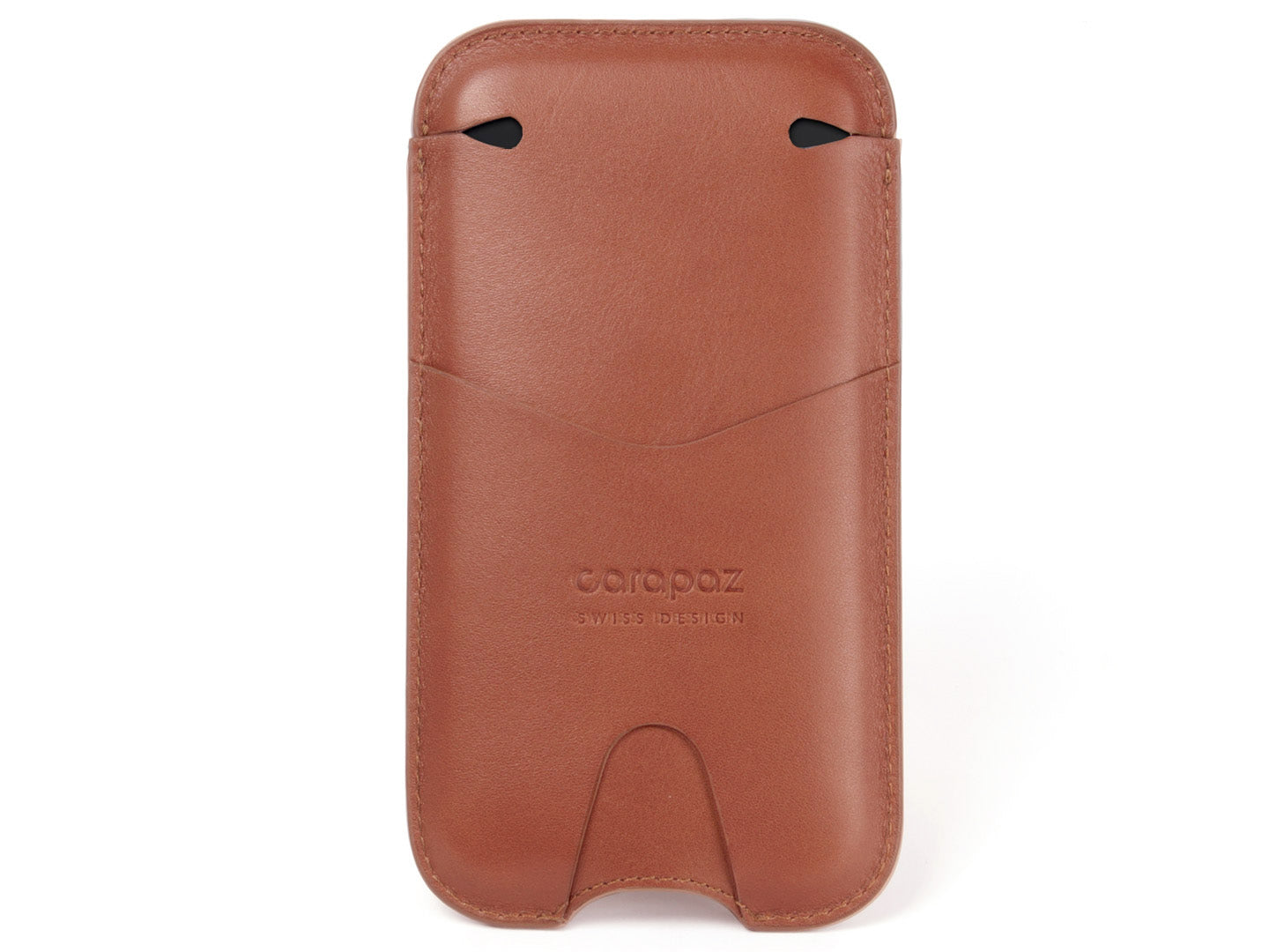 hot sale online 80ec9 f0e6e LEATHER POUCH FOR iPHONE X / XS - TAN