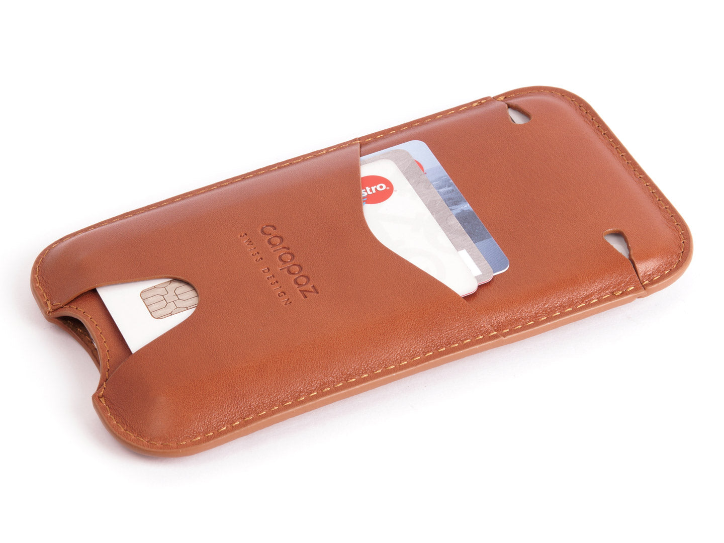 hot sale online 0828f 1a7b5 LEATHER POUCH FOR iPHONE X / XS - TAN