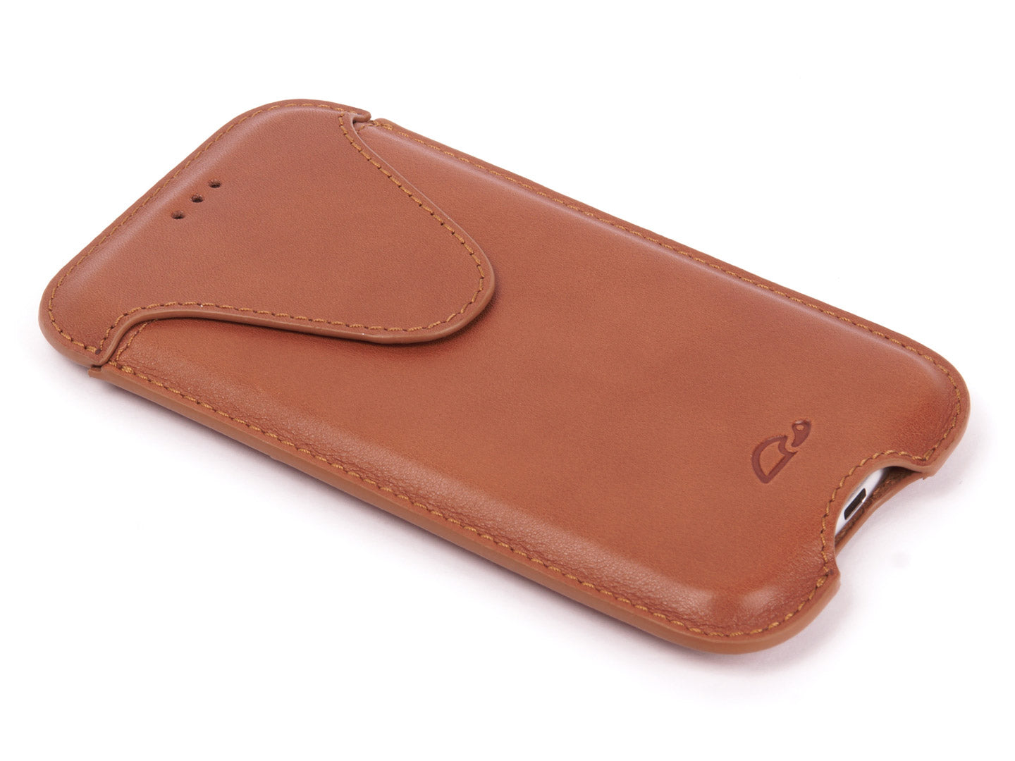 hot sale online 21cb8 fe4df LEATHER POUCH FOR iPHONE X / XS - TAN