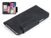 iPhone X leather wallet case - black vintage leather - card slots - front - Carapaz