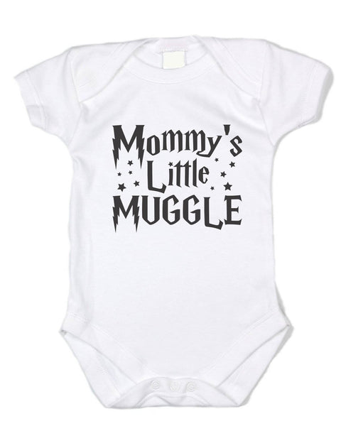 """Mommy's Little Muggle"" Potter Baby Onesie - Black Text"