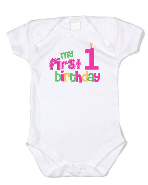 """My 1st Birthday"" Premium Cotton Onesie - Birthday Baby Onesie"