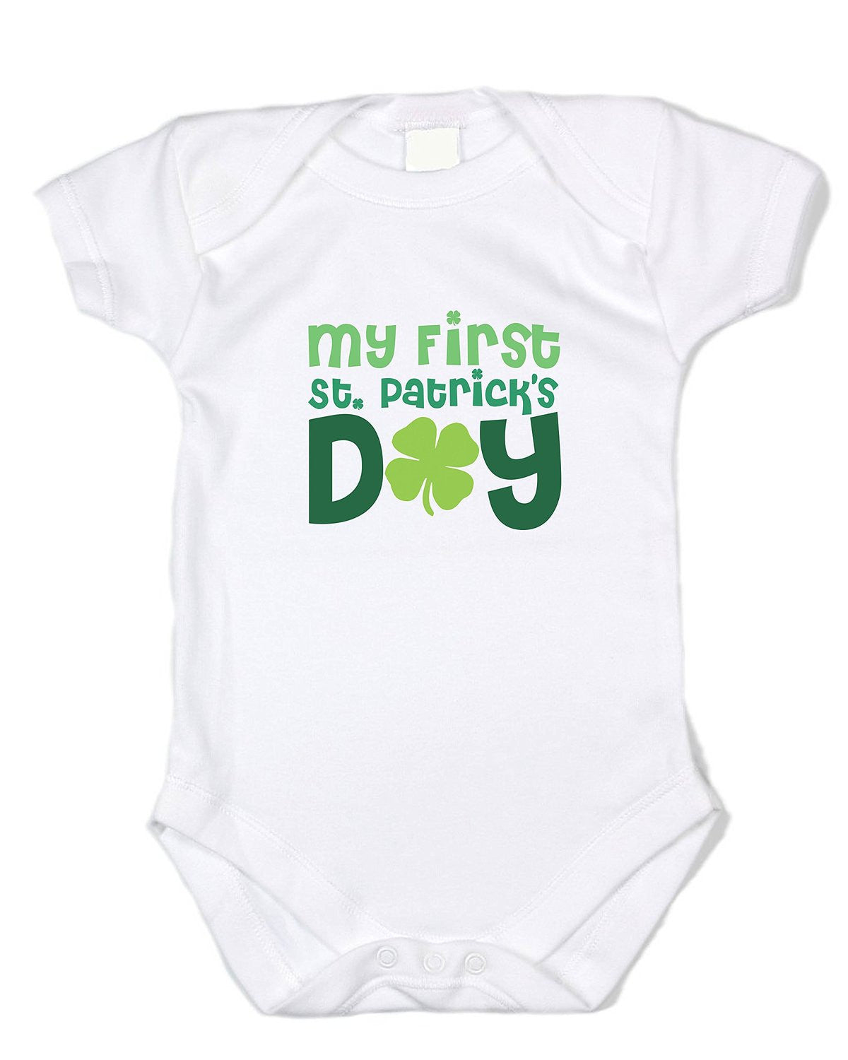 """My First St. Patrick's Day"" White Onesie - St. Patty's Day Kids Clothes"