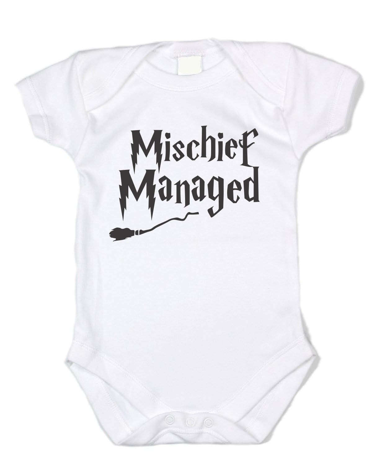 """Mishchief Managed"" Harry Clothing - Black Text"