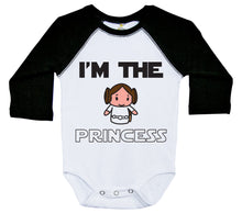 Load image into Gallery viewer, I'm The Princess / Raglan Onesie / Long Sleeve