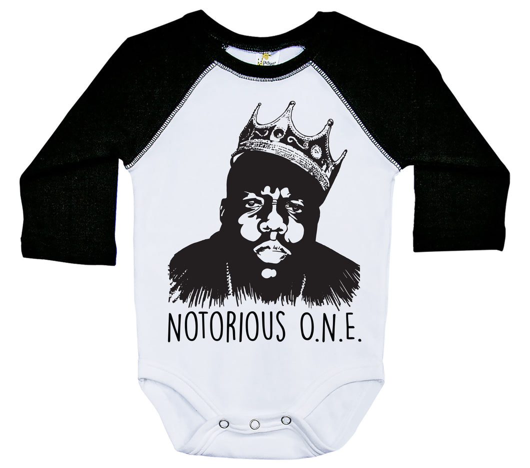 Notorious O.N.E. / Raglan Onesie / Long Sleeve