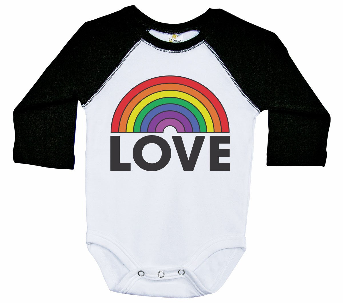 RAINBOW LOVE / LGBT Inspired Raglan Onesie