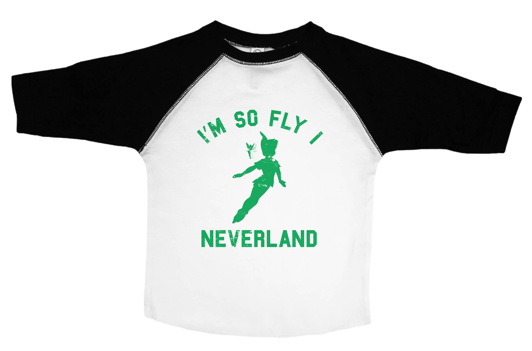 NEVERLAND / I'm So Fly I Neverland Raglan Baseball Shirt