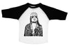Kurt Cobain / David Bowie Raglan Baseball Shirt