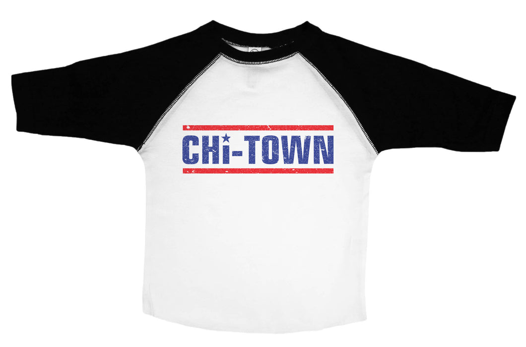 CHI-TOWN / Chicago Raglan Baseball Shirt