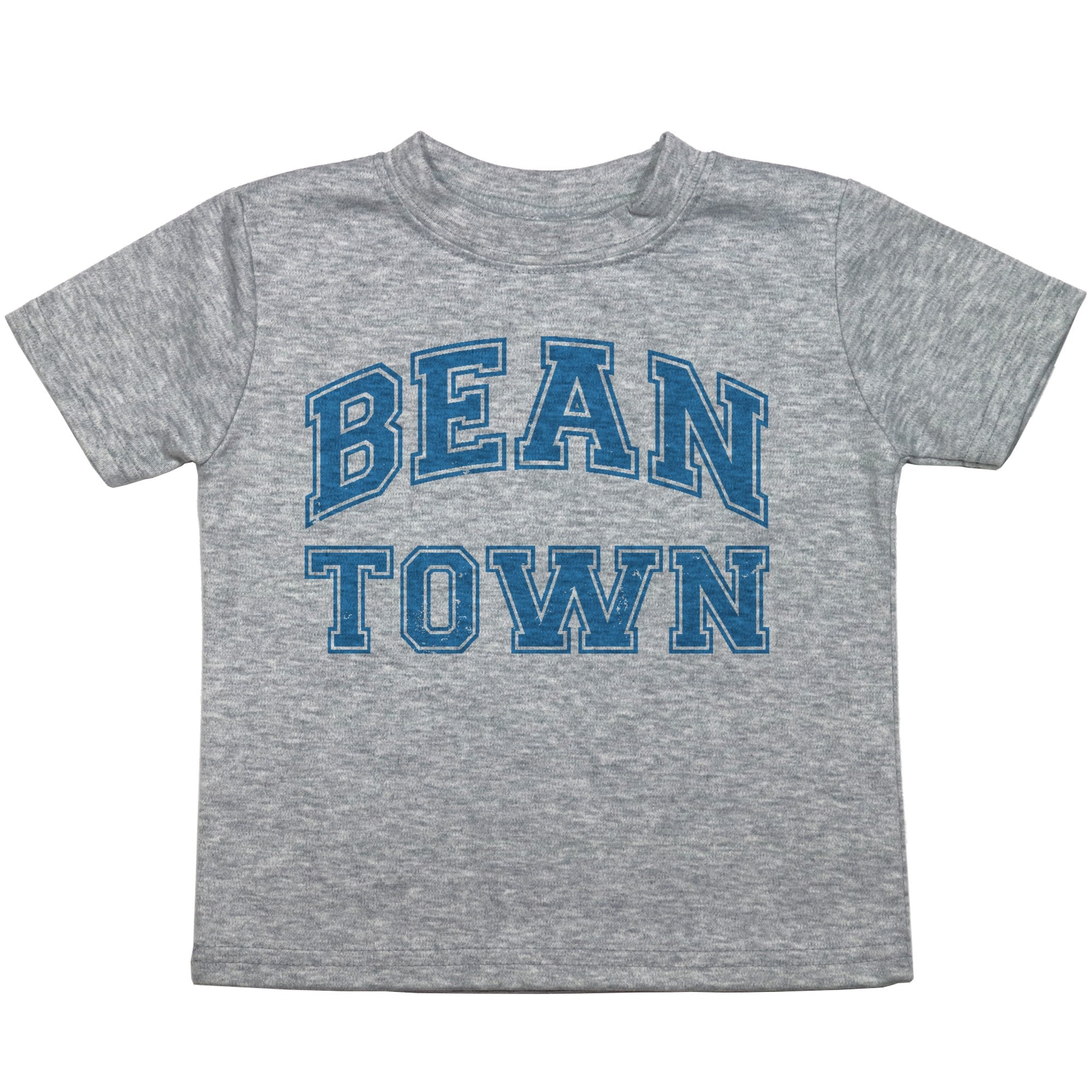 "a toddler tee that reads ""bean town"""
