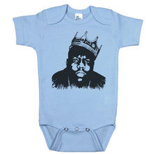 Load image into Gallery viewer, Blue Onesie with Biggie Smalls Graphic
