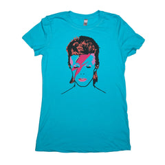 Blue Adult Women's T-Shirt with Biggie Smalls Graphic