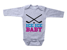 Load image into Gallery viewer, Ice Ice Baby (Pink) / Hockey Basic Onesie