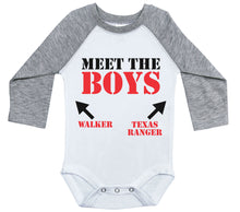 Load image into Gallery viewer, Meet The Boys - Walker Texas Ranger / Raglan Onesie / Long Sleeve
