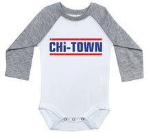 Load image into Gallery viewer, CHI-TOWN / Chicago Inspired Raglan Onesie
