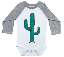 Load image into Gallery viewer, Cactus / Raglan Onesie / Long Sleeve