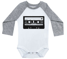 Load image into Gallery viewer, Cassette Tape / Raglan Onesie / Long Sleeve
